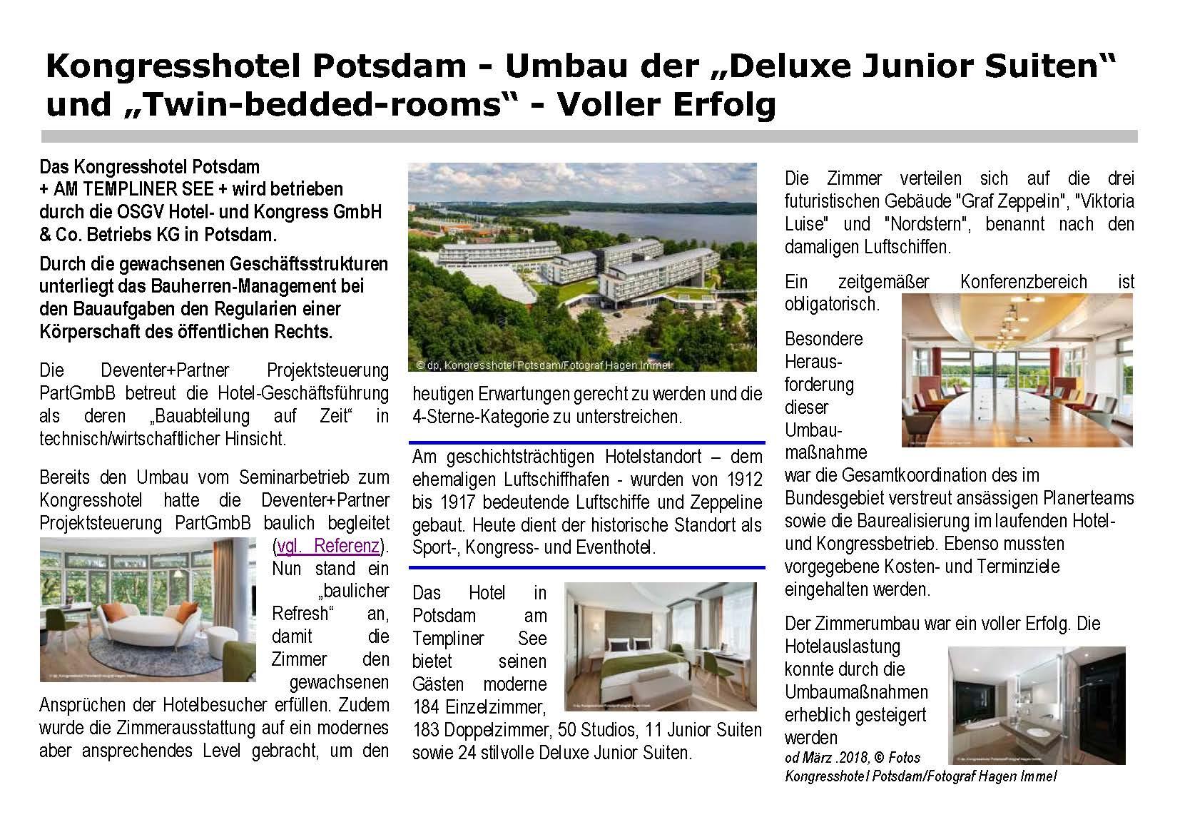 Kongresshotel Potsdam - Bericht Zimmerumbau