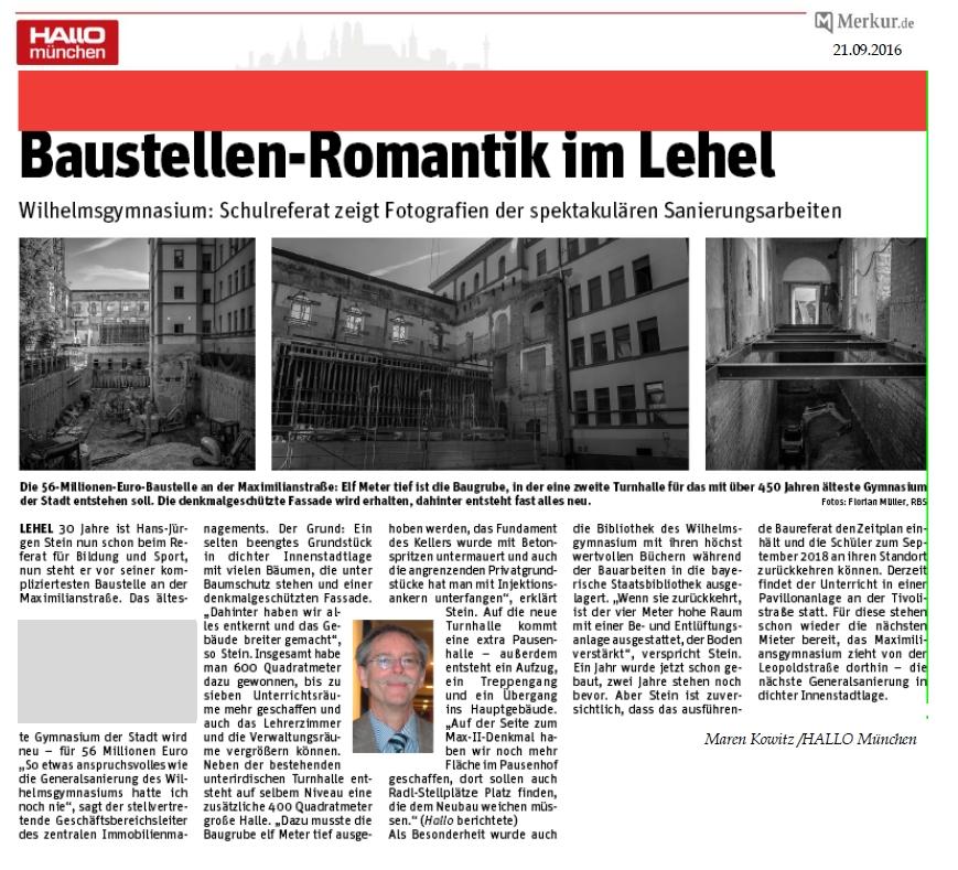 Artikel Hallo München 08.2016