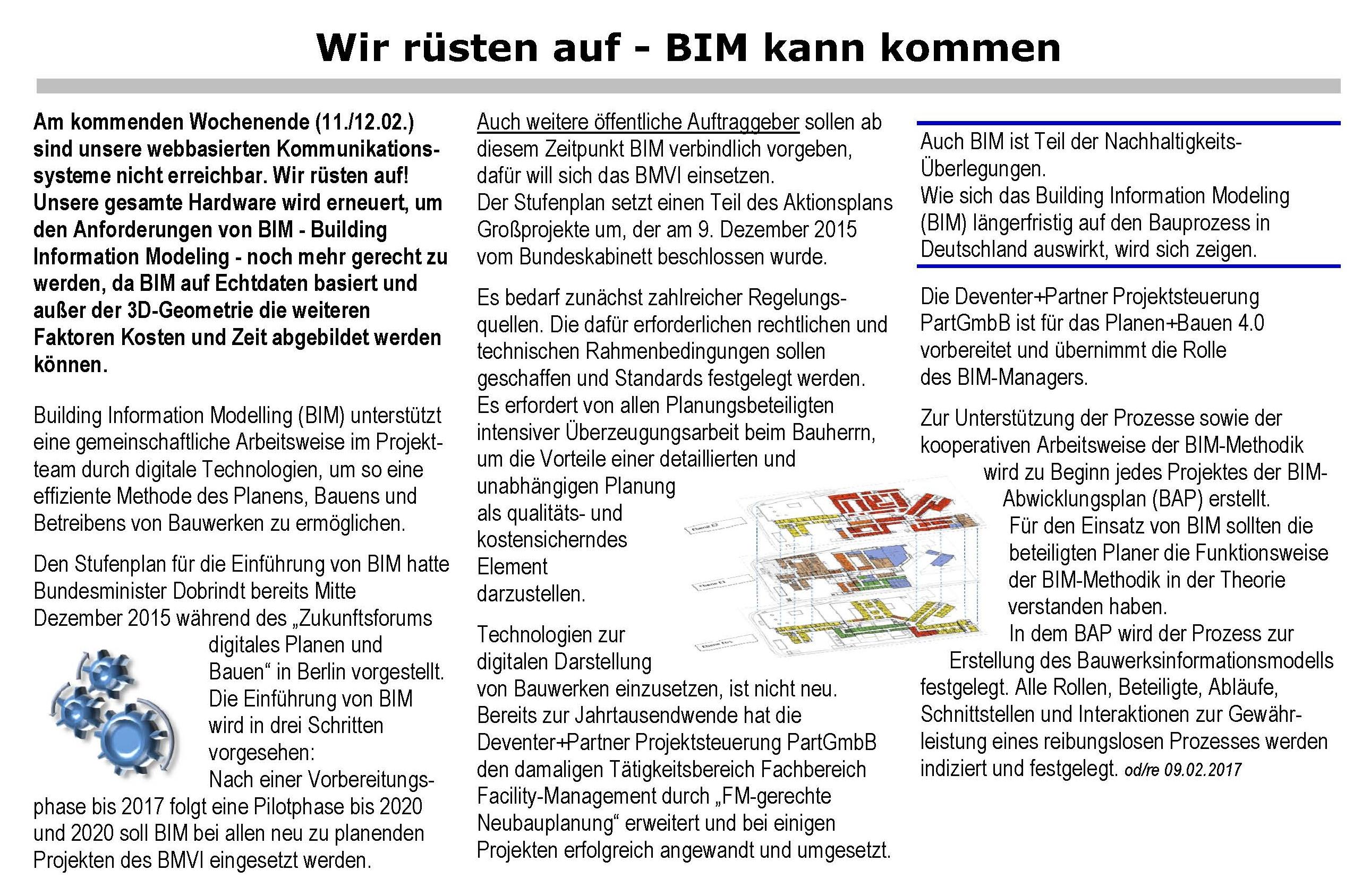 BMI kann kommen