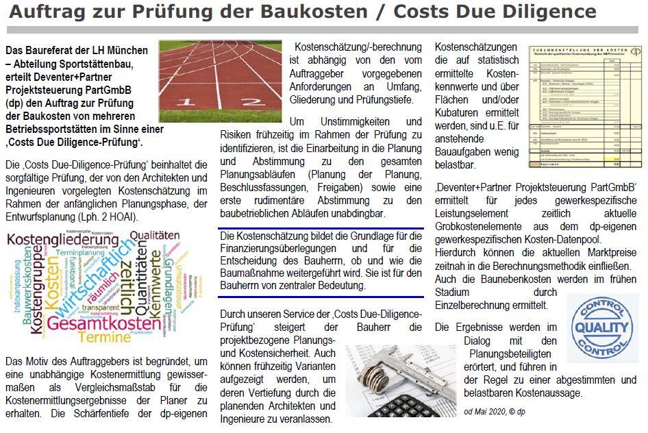 Costs Due Diligence - Prüfung Baukosten