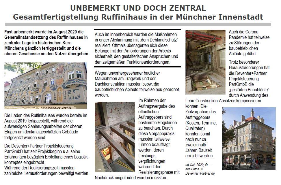 München Ruffinihaus - Unbemekrt u. doch zentral